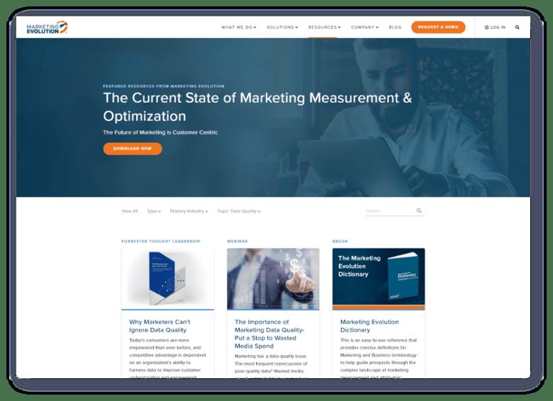 Marketing Evolution Resources Header