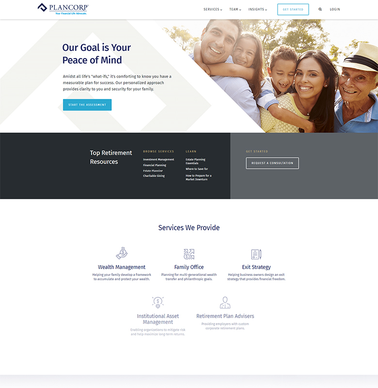 Plancorp Homepage