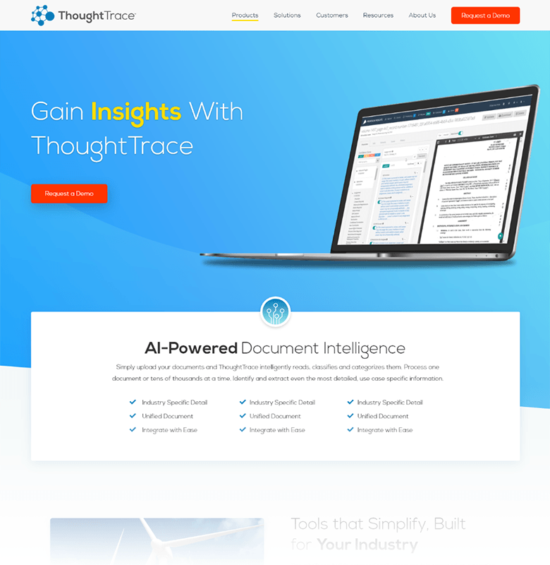 ThoughtTrace Homepage