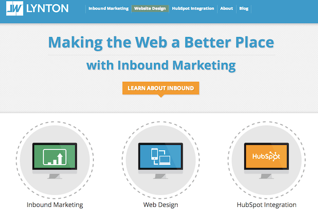Website personalization example Lynton-first-time.png