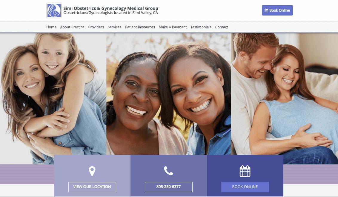 healthcare web design Color Simi Obstetrics.png
