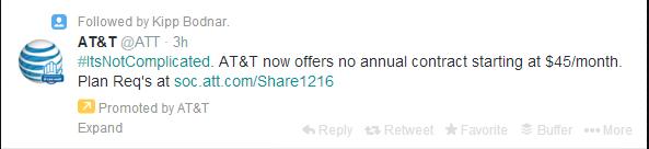 Bad Example of Marketing Tweet