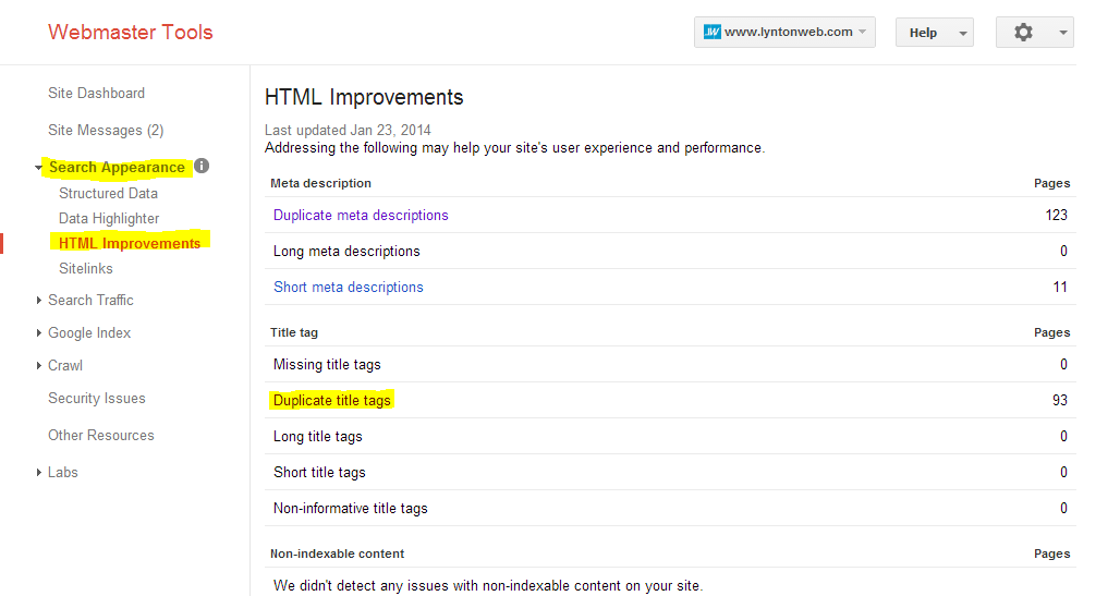 webmaster_tools_html_improvements_Screenshot_highlighted
