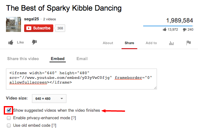 How to fix YouTube embed code