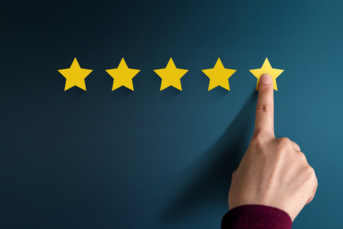 5 gold star review