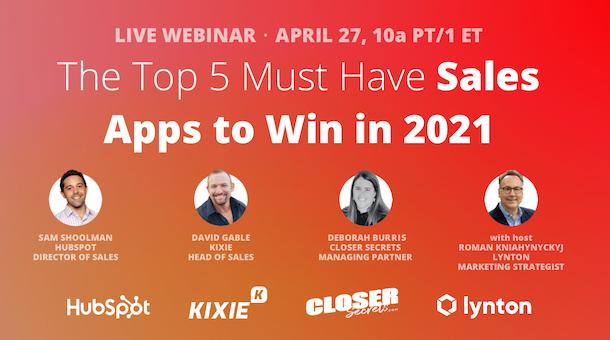 Webinar: Top 5 Apps for Sales Teams to Win in 2021