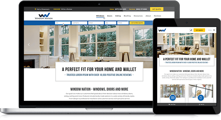 Custom Features Make Window Nation S New Website A Lead