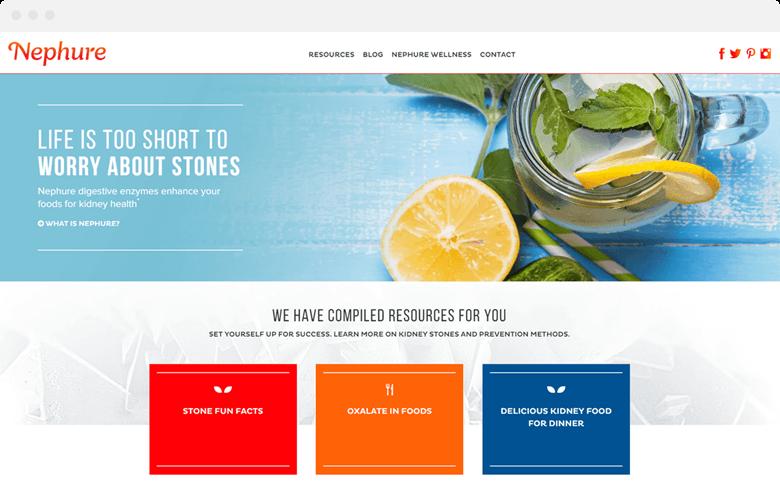 nephure website design