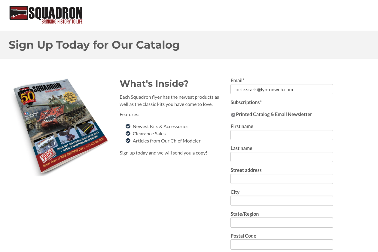 landing-page-newsletter-catalog
