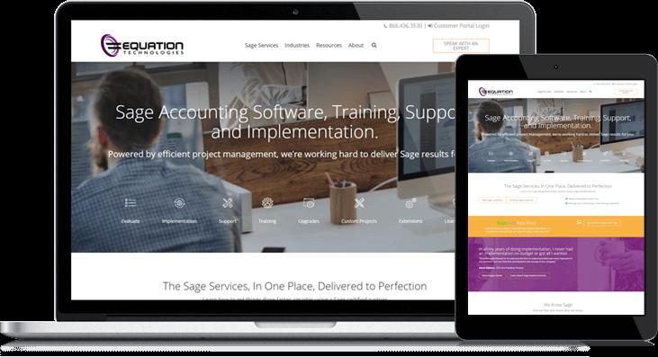 equation technologies website redesign on hubspot