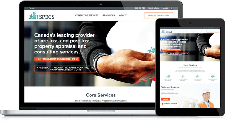 specs website redesign on hubspot