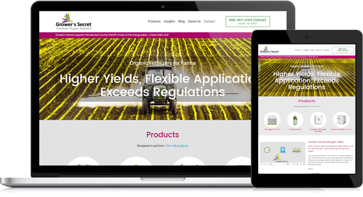 Grower's Secret, Inc. Website Redesign