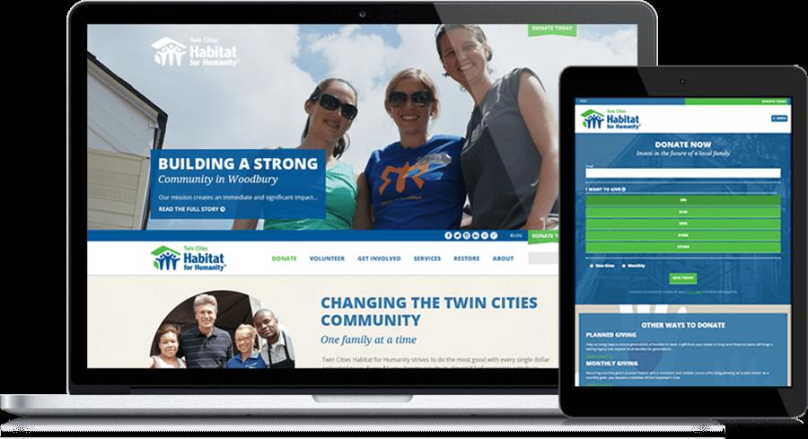 Twin Cities' Habitat for Humanity Website Redesign